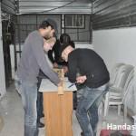 المتطوعين أثناء بداية العمل