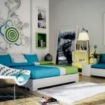 غرفة نوم كلاسيكية بألوان هادئة