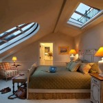 استغلال سقف الجملون بأسلوب مميز داخل غرفة النوم
