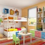 غرفة نوم للأطفال بألوان مفعمة بالحياة