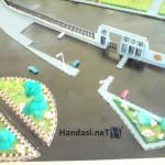 صورة من الأعلى لساحة الجمارك مع باب الجامعة