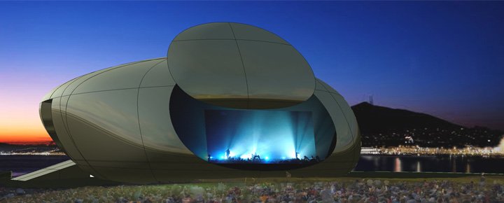 مبنى الأوبرا والمسرح Open Suseok بتصميمه الغريب