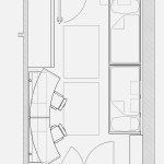 المسقط الهندسي لغرفة النوم الرائعة